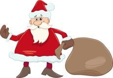 Santa with sack illustration Stock Photography