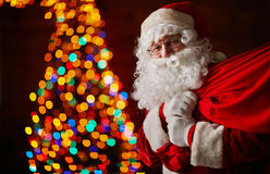 Santa with sack Royalty Free Stock Photography