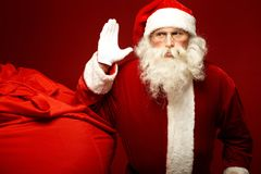 Santa and sack Royalty Free Stock Image