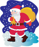 Santa with sack of presents Stock Image
