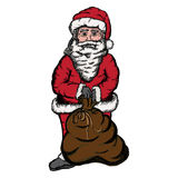 Santa Sack Sketch Royalty Free Stock Photos