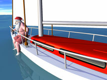 Santa Sailing Stock Photos