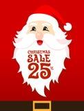 Santa Sale Card Fotografie Stock