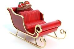 Santa sanie z prezentami obraz stock