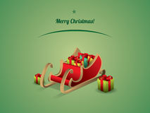 Santa sanie z prezentami Obraz Royalty Free