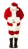 Santa: Santa Checking Weight on Scale Stock Photo