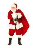 Santa: Santa Claus Carrying Sack dos presentes Fotografia de Stock