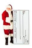 Santa: Santa Claus Holding Oversized Check Fotos de Stock