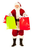 Santa: Santa Excited To Do Christmas Shopping Royalty Free Stock Photography