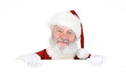 Santa: Santa Holding White Card imagens de stock