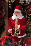 Santa With Sax Stock Photo