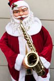 Santa and the saxophone Stock Photo