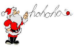 Santa say hohoho. Cartoon graphic depicting a santa say hohoho Royalty Free Stock Photography