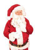 Santa Saying Shush Royaltyfria Bilder