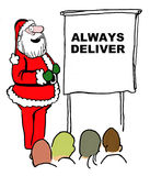 Santa says 'Always Deliver' Stock Images