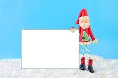Santa scarna con il segno in bianco Immagini Stock