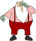 Santa scettica Immagini Stock