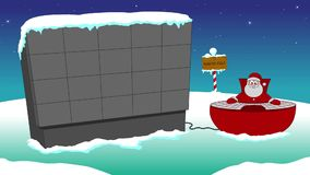 Santa and screen stock video footage