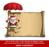 Santa Scroll felice - mani aperte del paracadute Fotografia Stock Libera da Diritti