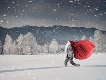 Santa se dépêche  Media mélangé Photographie stock libre de droits