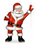 Santa se penchant sur un bord Photographie stock libre de droits