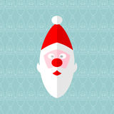 Santa seamless. Christmas card. Vector format Royalty Free Stock Photography