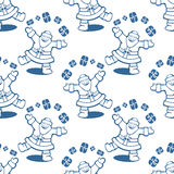 Santa seamless pattern Stock Photos