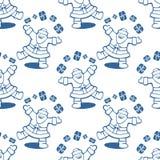 Santa seamless pattern Stock Photos