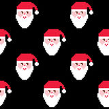 Santa seamless pattern, Christmas wallpaper, Xmas repetitive decoration Royalty Free Stock Photography