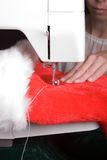 Santa Seamstress Royalty Free Stock Images