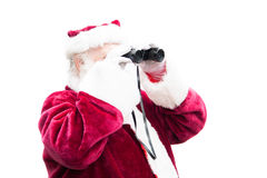 Santa searches for a deal Stock Image