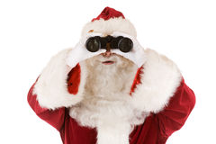 Santa searching Royalty Free Stock Photography