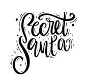 Santa secrète Calligraphie moderne de brosse illustration de vecteur