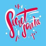 Santa secrète Calligraphie moderne de brosse illustration libre de droits