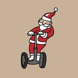 Santa on segway Royalty Free Stock Images