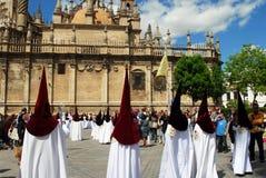 Santa Semana Procession, Seville. Stock Photo