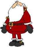Santa semblant effrayée illustration libre de droits