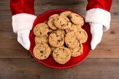 Santa Serving Cookies Fotografía de archivo libre de regalías