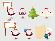 Santa Set Stock Photos