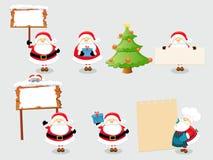 Santa Set Stock Photos