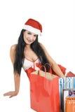 Santa 'sexy' com presentes Imagens de Stock Royalty Free