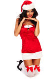 Santa sexy helper Stock Images