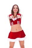 Santa 'sexy' que escolhe o Fotografia de Stock