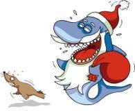 Santa Shark Royalty Free Stock Photo