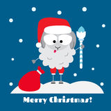 Santa Sheep Fotografia de Stock Royalty Free