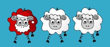 Santa sheep. Royalty Free Stock Photography