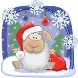 Santa Sheep Royalty Free Stock Photos
