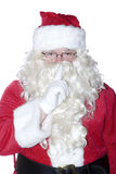 Santa SHHHHH. A Santa Clause isolated on a white background stock images