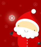 Santa with shining snowflake vector illustration