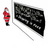With Santa, Shipping is Free Stock Photography